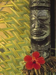 Traditional Wood Carving, Rarotonga, Cook Islands by Neil Farrin