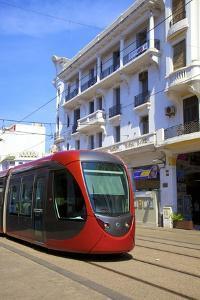 Tram, Casablanca, Morocco, North Africa, Africa by Neil Farrin