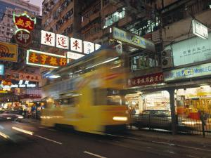 Tram, Causeway Bay, Hong Kong, China by Neil Farrin