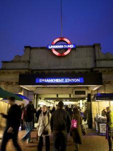 Underground Station, London, England by Neil Farrin