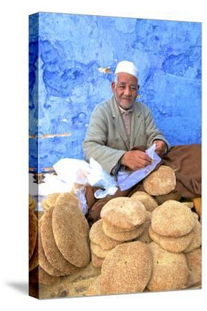 Vendor with Freshly Baked Bread, Rabat, Morocco, North Africa