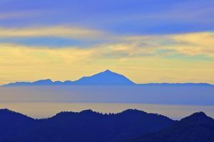 View of Tenerife from Gran Canaria, Gran Canaria, Canary Islands, Spain, Atlantic Ocean, Europe by Neil Farrin