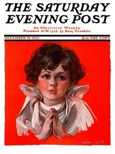 """Little Angel,"" Saturday Evening Post Cover, December 19, 1925 by Neil Hott"