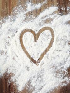 Heart Shape in Flour by Neil Overy