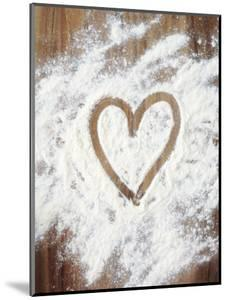 Heart Shape in Flour by Neil Overy