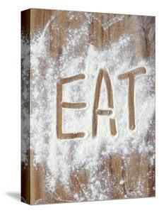 Word Eat in Flour by Neil Overy