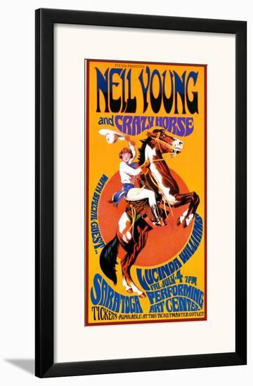 Neil Young and Crazy Horse in Concert-Bob Masse-Framed Art Print