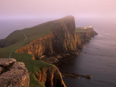 Neist Point Lighthouse, the Westernmost Point of Skye, Duirinish, Isle of Skye, Scotland, UK-Patrick Dieudonne-Photographic Print