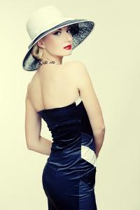 Retro Woman In Hat by NejroN Photo