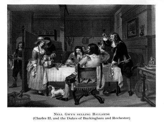 Nell Gwyn Selling Ballards--Giclee Print