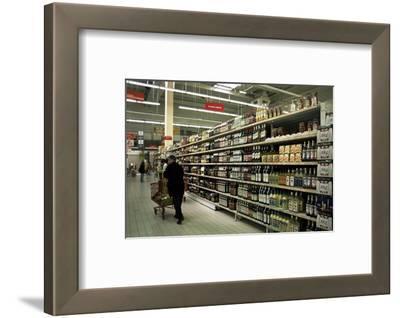Supermarket Interior, Dieppe, Normandy, France