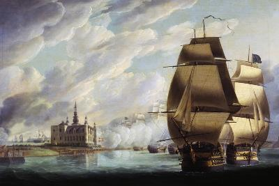 Nelson Forcing Passage of Sound, 30 March 1801, Prior to Battle of Copenhagen-Ralph Dodd-Giclee Print