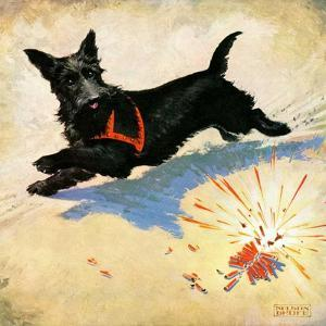 """""""Dog and Firecrackers,""""July 1, 1936 by Nelson Grofe"""