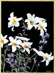 """""""Easter Lilies,""""April 1, 1933 by Nelson Grofe"""