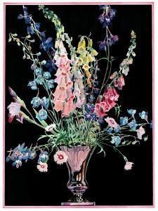 """""""Flowers in Silver Vase,""""April 1, 1931 by Nelson Grofe"""