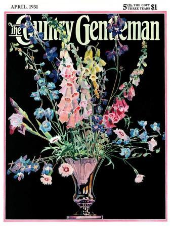 """Flowers in Silver Vase,"" Country Gentleman Cover, April 1, 1931"