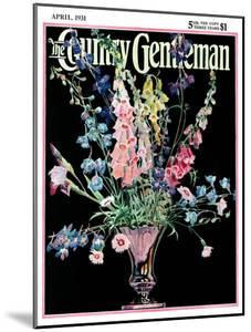 """""""Flowers in Silver Vase,"""" Country Gentleman Cover, April 1, 1931 by Nelson Grofe"""