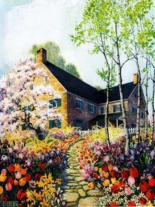 """""""Home in Springtime,""""April 1, 1930 by Nelson Grofe"""