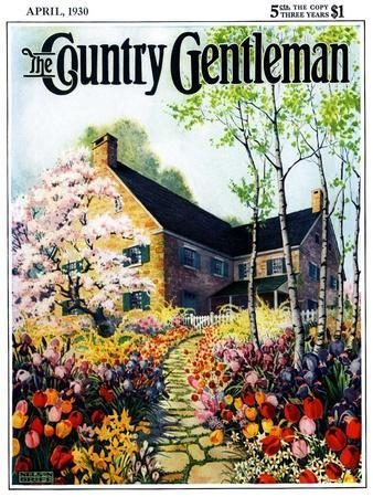 """""""Home in Springtime,"""" Country Gentleman Cover, April 1, 1930"""