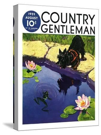 """""""Scottie and Frog,"""" Country Gentleman Cover, August 1, 1935"""