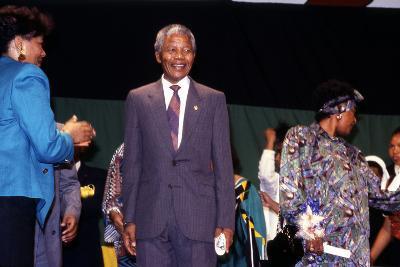 Nelson Mandela, 1990-Fred Watkins-Photographic Print