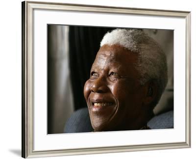 Nelson Mandela-Themba Hadebe-Framed Photographic Print