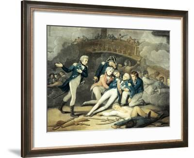 Nelson Mortally Wounded at Trafalgar in 1805, Napoleonic Wars, Spain--Framed Giclee Print