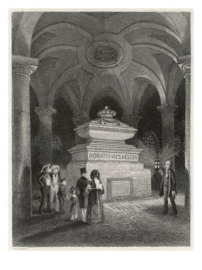 Nelson's Tomb in the Crypt of St Pauls--Giclee Print