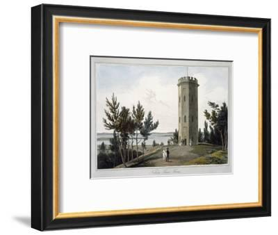 'Nelson's Tower, Forres', Moray, Scotland, 1821-William Daniell-Framed Giclee Print