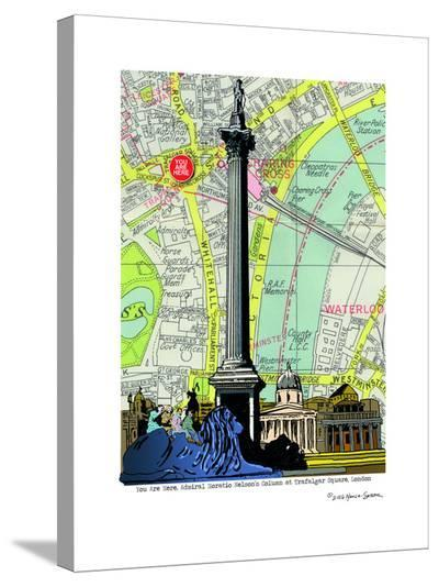 Nelsons Column London--Stretched Canvas Print