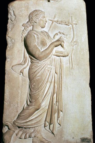 Neo-Attic relief of the Muse Citharide. Artist: Unknown-Unknown-Giclee Print
