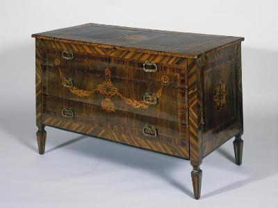 Neoclassical Style Lombard Chest of Drawers with Giuseppe Maggiolini Style Inlays, Italy--Giclee Print