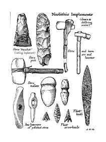 Neolithic Implements of Stone, Flint and Horn, C1890
