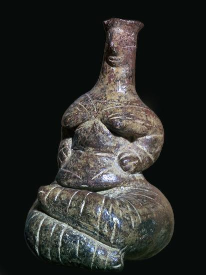 Neolithic mother-goddess from Crete. Artist: Unknown-Unknown-Giclee Print