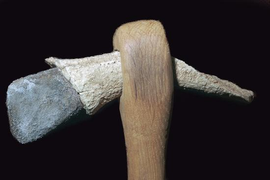 Neolithic stone axe. Artist: Unknown-Unknown-Giclee Print