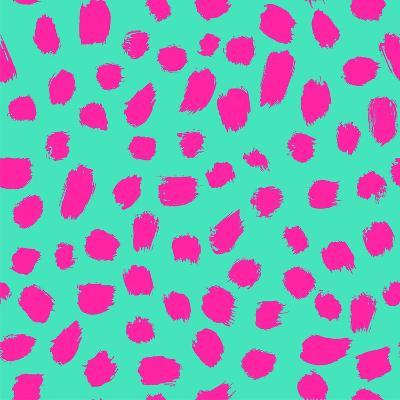 Neon Brush Seamless Pattern Background- faitotoro-Art Print