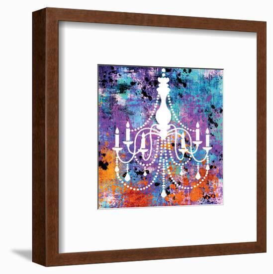 Neon Chandelier II-Miranda York-Framed Art Print