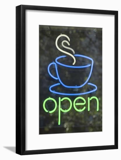 Neon coffee shop sign-Natalie Tepper-Framed Photo