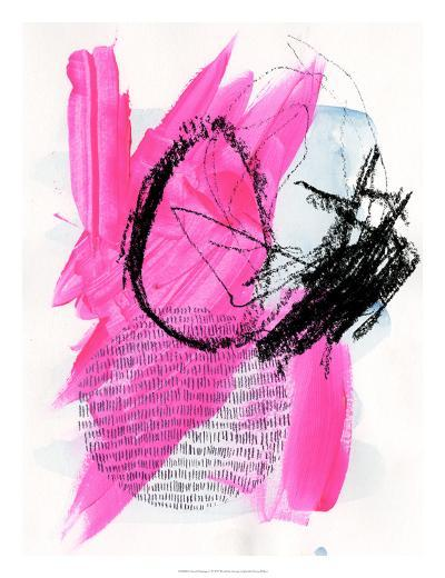 Neon Flamingos I-Jennifer Paxton Parker-Art Print