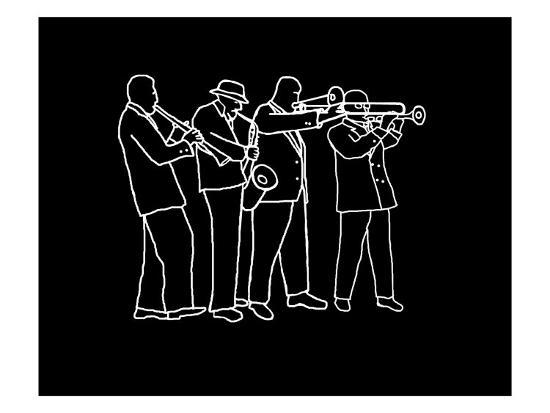 Neon Horn Band New Orleans Style-Rich LaPenna-Giclee Print