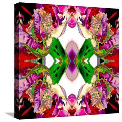 Neon Rose redux2-Rose Anne Colavito-Stretched Canvas Print
