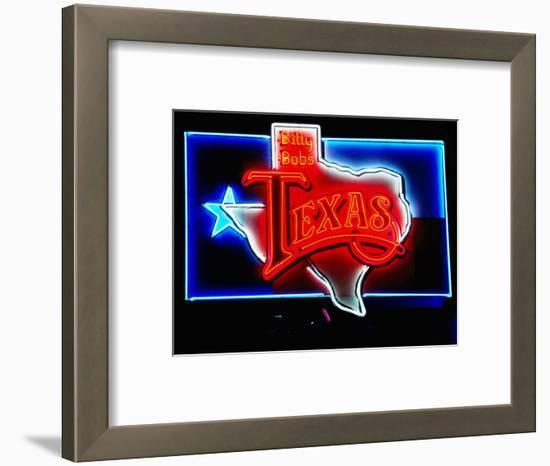 Neon Sign, Billy Bob's Texas Honky Tonk, Fort Worth, Texas-Holger Leue-Framed Photographic Print