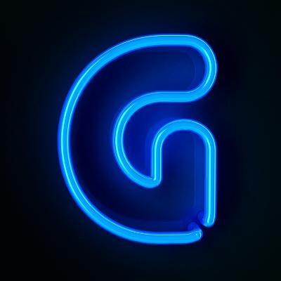 Neon Sign Letter G-badboo-Art Print