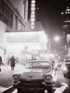 Neon Signs at Night Time on Broadway in New York