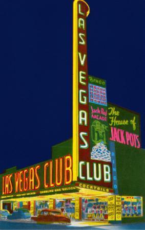 Neon Signs, Las Vegas Club, Las Vegas, Nevada