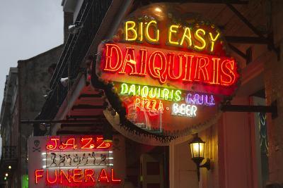 Neon Signs on Bourbon Street, French Quarter, New Orleans, Louisiana, USA-Jamie & Judy Wild-Photographic Print