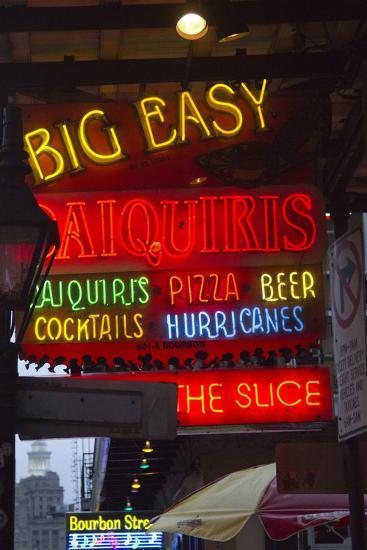 Neon Signs on Bourbon Street, French Quarter, New Orleans, Louisiana, USA-Jamie & Judy Wild-Photographic Print