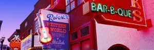 Neon Signs on Building, Nashville, Tennessee, USA