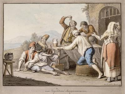 Neopolitans Eating Macaroni; Napolitani Mangia Maccaroni-Saviero Xavier Della Gatta-Giclee Print