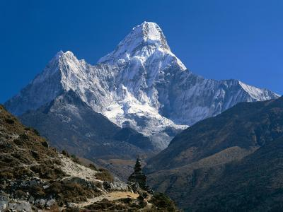 Nepal, Ama Dablam Trail, Temple in the Extreme Terrain of the Mountains--Photographic Print